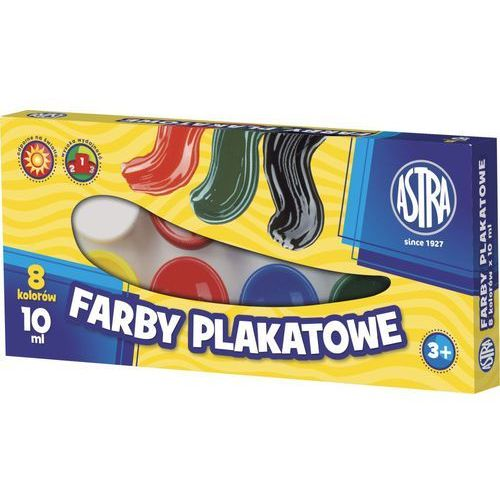 Farby plakatowe 8 kolorów Astra