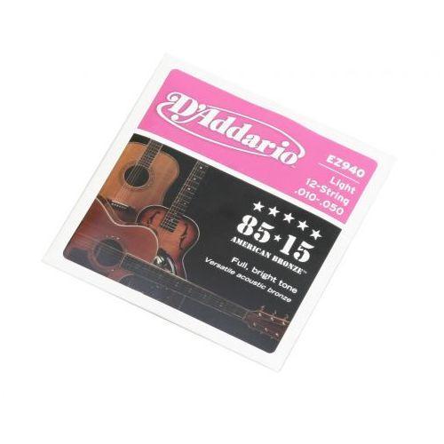 ez 940 12s struny do gitary akustycznej 10-50 marki D′addario