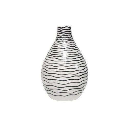 HK Living Ceramiczny wazon w czarne paski CER0046, CER0046