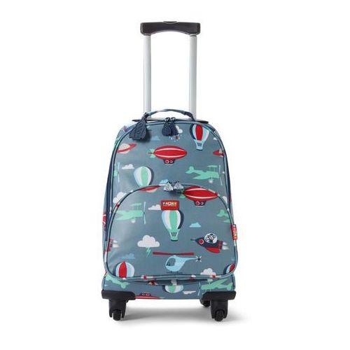 Penny Scallan Design, walizka na czterech kółkach, niebieska w małpki