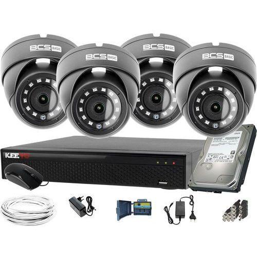 Bcs 1920x1080 fullhd 4x -b-mk22800 bcs basic zestaw do monitoringu dysk 1tb akcesoria
