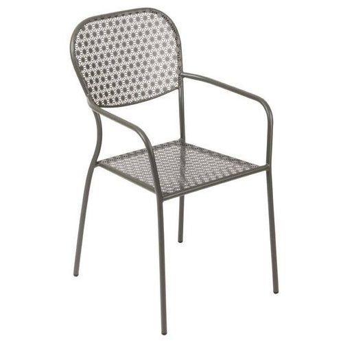Bolero Krzesło ogrodowe szare   55x58x(h)95cm