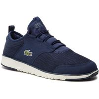 Lacoste Sneakersy - l.ight sock lace 119 1 sma 7-37sma0024j18 nvy/off wht