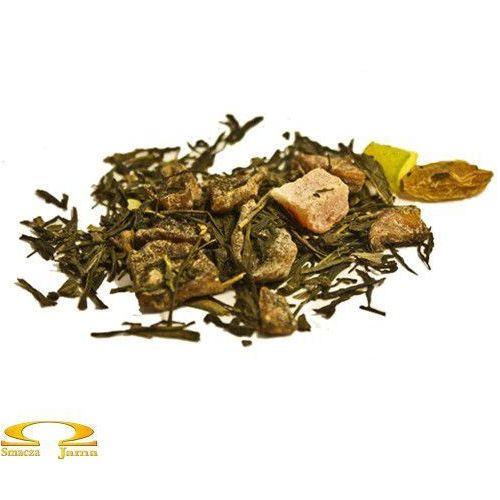 Herbata zielona sencha premium 'melon i pistacja' 50g marki Na wagę
