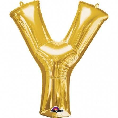 "Amscan Balon foliowy litera ""y"" złota - 27 x 35 cm (0026635330619)"