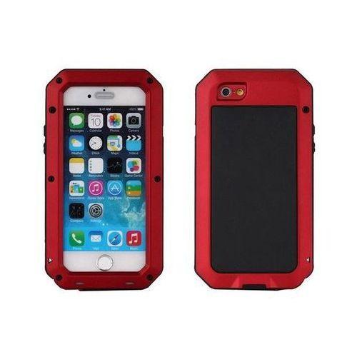 Aluminiowe Etui Zbroja dla iPhone 6 i 6S - Czerwone - Czerwony \ iPhone 6 i 6S, kolor czerwony