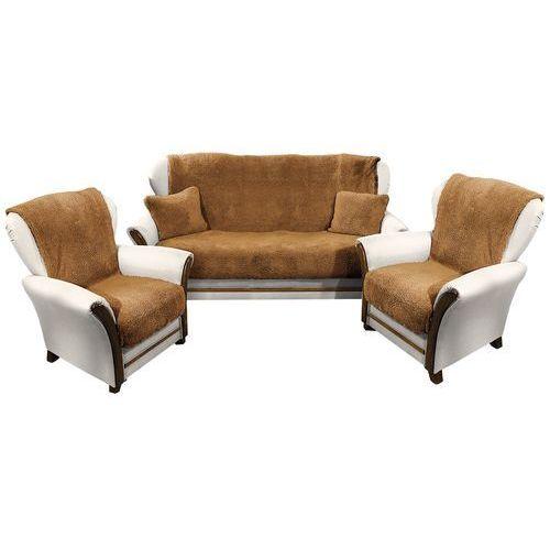 narzuty na kanapę i fotele baranek ciemny brąz, 150 x 200 cm, 2 ks 65 x 150 cm od producenta 4home