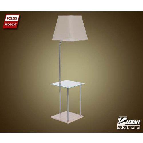 Lampa podłogowa LED TORI GLASS stolik