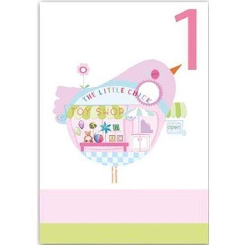 Karnet b6 brokat z kopertą urodziny 1 dziewczynka marki Museums & galleries