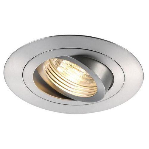 Oczko new tria gu10 xl okrągłe aluminium szczotkowane, 113446 marki Spotline