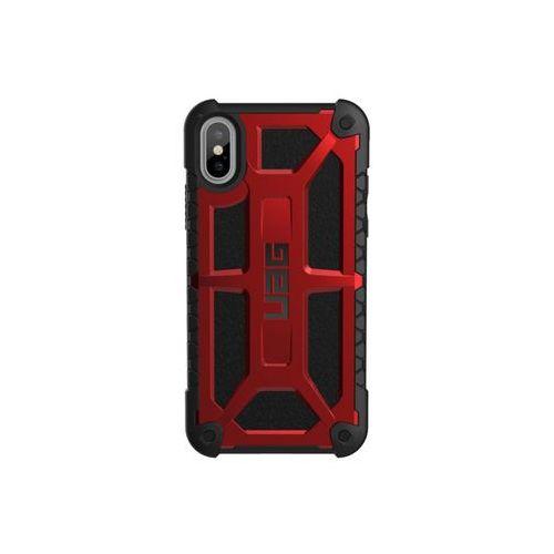 Etui Urban Armor Gear UAG Monarch iPhone X skórzane czerwone, kolor czerwony