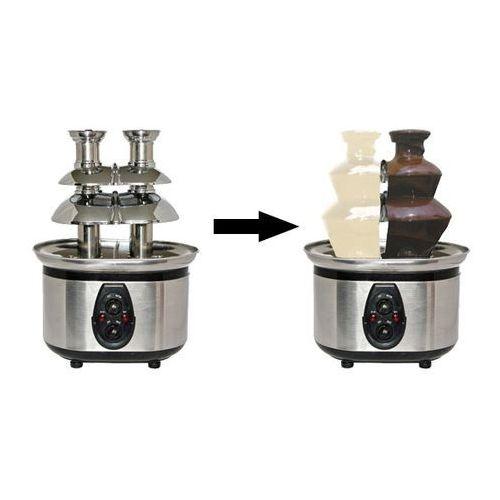 Fontanna czekoladowa dwa smaki czekolady | 2x800g | 320W | 220-240V | 290x215x(H)400mm
