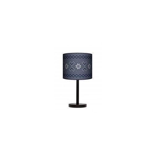 Lampa stojąca duża - niebieska dzianina marki Lampy