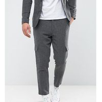 tapered cropped trouser with cargo pocket - grey marki Only & sons