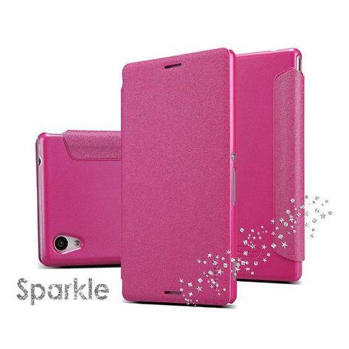Etui Nillkin Sparkle Sony Xperia M4 Aqua Różowe - Różowy, kolor różowy