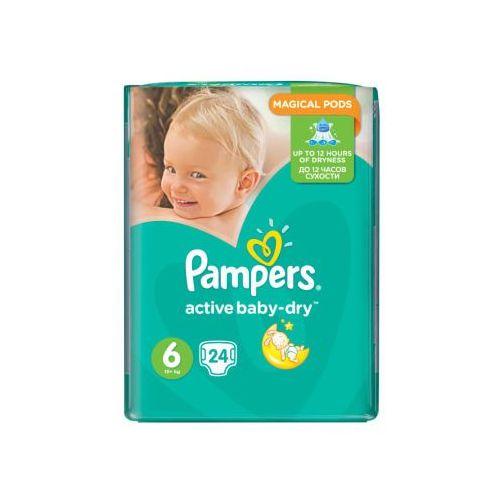 PAMPERS Active Baby pieluchy 6 Extra Large 24szt pieluszki. Najniższe ceny, najlepsze promocje w sklepach, opinie.