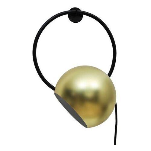 Kinkiet GoodHome Toroba 1-punktowy E27 czarny / złoty (5036581098087)