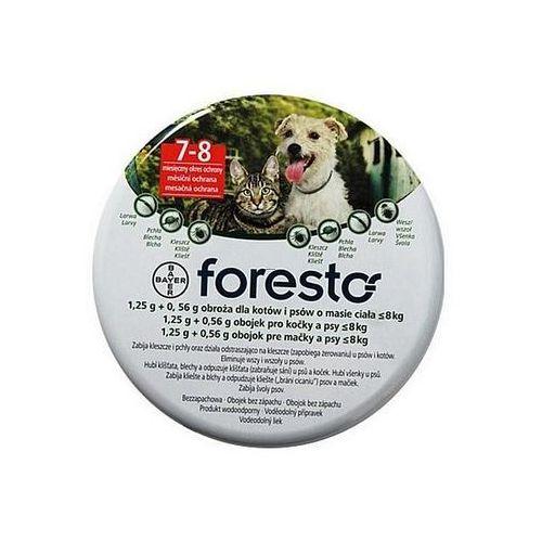 Bayer Foresto Obroża 1,25g + 0,56g dla kotów i psów o masie ciała poniżej 8kg - tak \ 38cm (5909990908479)