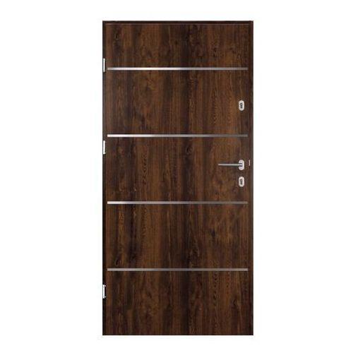 Drzwi zewnętrzne stalowe Elbrouz 80 lewe orzech