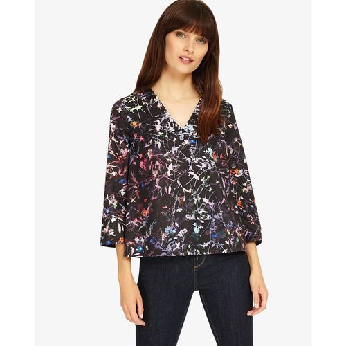 Phase Eight Midnight Garden Floral Top, kolor czerwony