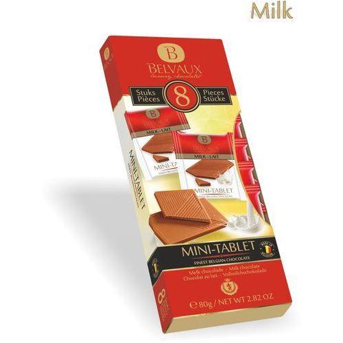 Belmarie Zestaw czekoladek z belgijskiej czekolady mlecznej 35%, 8x10g 8 sztuk osobno pakowanych czekoladek 10g