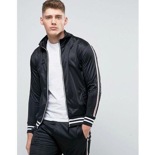 vintage zip through track jacket - black, Brave soul