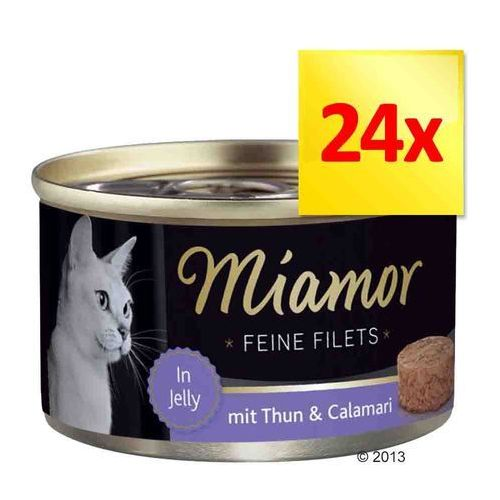 MIAMOR Feine Filets - filety mięsne smak: kura z szynką i ryżem 6x100g