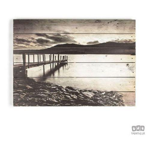 Graham&brown Obraz na drewnie tranquil jetty 102505