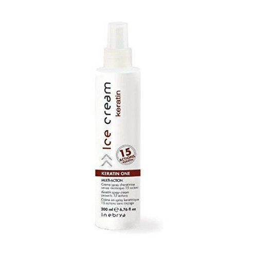Inebrya Keratin spray keratynowy 15 w 1 (Keratin Spray Cream Leave-in 15 Actions) 200 ml (8033219168874)