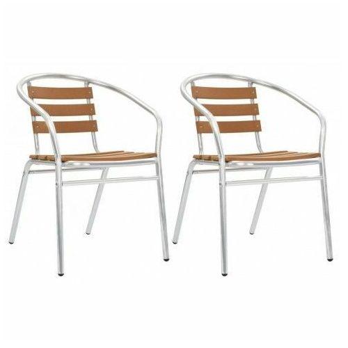 Zestaw metalowych krzeseł ogrodowych folind 2x - srebrny marki Elior