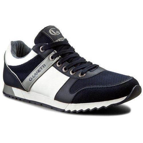 Sneakersy - mp07-16236-01 granatowy, Gino lanetti, 40-42