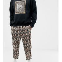 inspired snake skin print cropped relaxed trouser - brown, Reclaimed vintage, XS-L