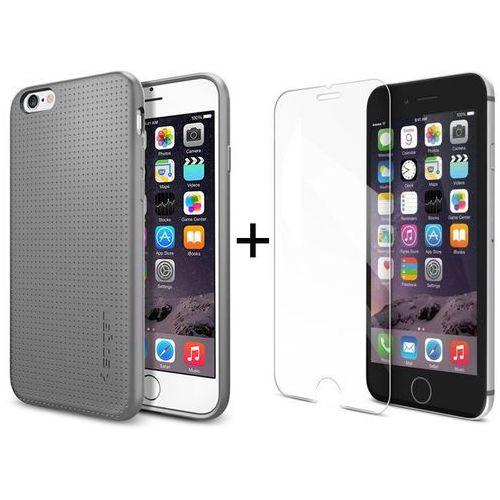 Zestaw   Obudowa Spigen Capsule Szara + Szkło ochronne Perfect Glass dla modelu Apple iPhone 6 / 6S