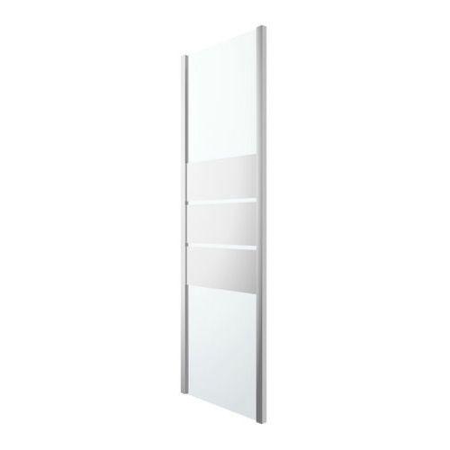 Goodhome Ścianka prysznicowa beloya 70 cm chrom/szkło lustrzane