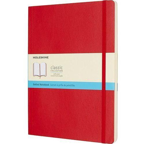 Notes Moleskine w miękkiej oprawie kieszonkowy czerwony w kropki, QP614F2