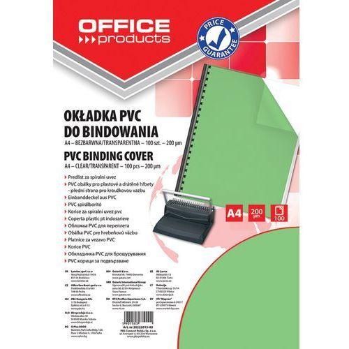 Office products Okładki do bindowania , pvc, a4, 200mikr., 100szt., zielone transparentne (5901503684009)