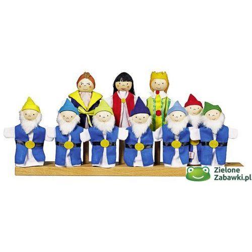 Królewna śnieżka i 7 krasnoludków - pacynki na palec, 51679-Goki, teatrzyki dla dzieci