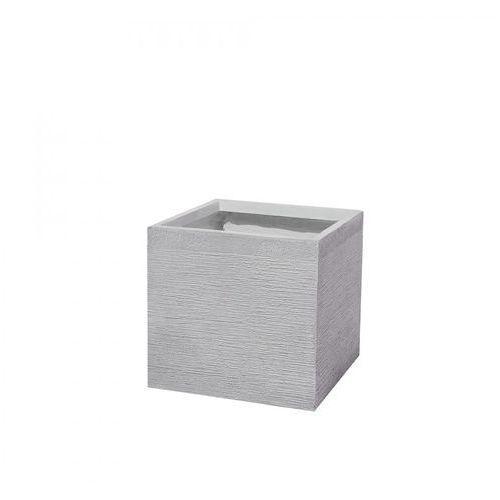 Doniczka biała kwadratowa 40 x 40 x 38 cm Filippo BLmeble