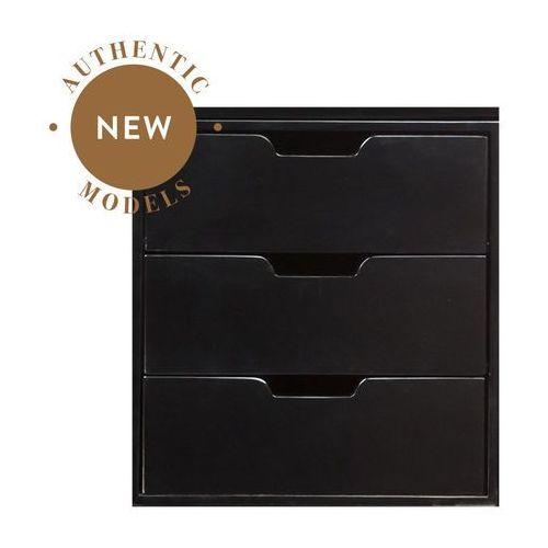 Authentic Models Kontenerek z 3 szufladami, otwarty, Czarny MF240