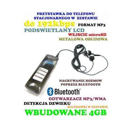 Profesjonalny Podsłuch Nagrywający Dźwięk (4GB) + Bluetooth + Zapis Rozmów Tel. + MP3 + VOX itd.