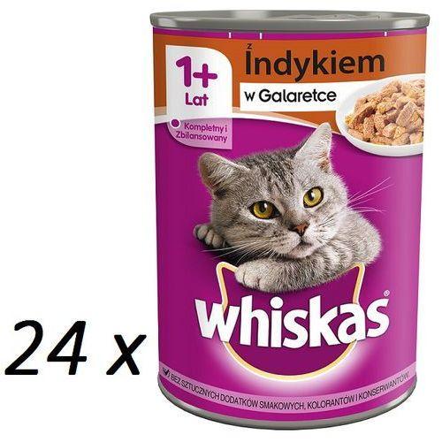 Whiskas puszka indyk w galaretce 400 g x 18 + 6 gratis! - darmowa dostawa od 95 zł! (5900951237324)