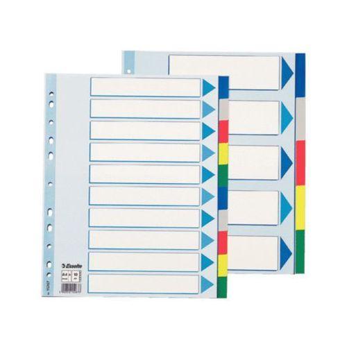 ESSELTE Przekładki plastikowe MAXI z PP, 10 kart
