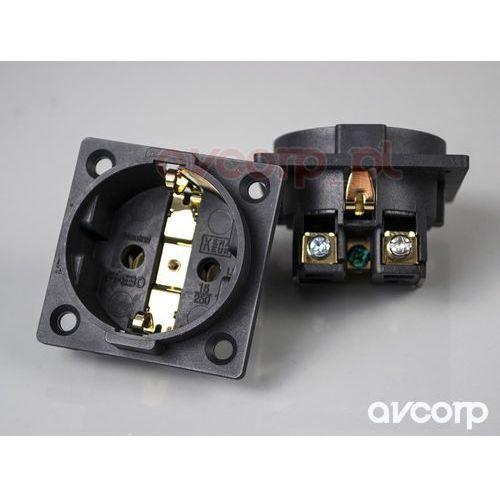 Furutech FI-E30 (G) - gniazdo montażowe schuko (EU) - pozłacane (4582237530483)