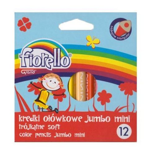 Kredki super soft jumbo mini 12 kolorów marki Fiorello