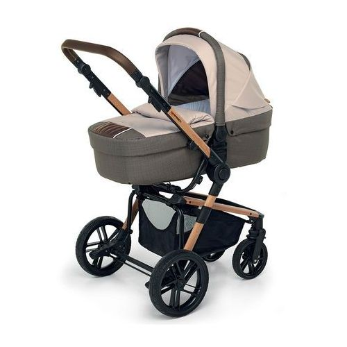 Foppapedretti Brązowy melanż wózek 3w1 iwood trendy