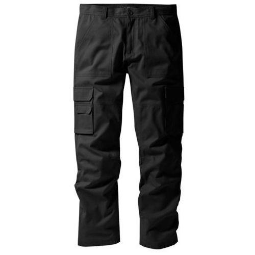 """Spodnie """"bojówki"""" z powłoką z teflonu regular fit straight czarny marki Bonprix"""