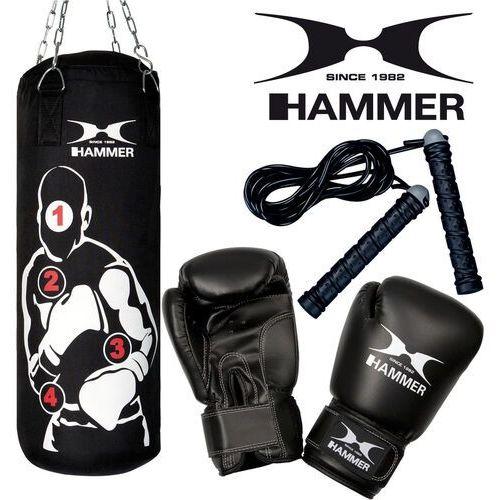 Hammer Zestaw bokserski sparring pro – worek hammer sparring pro (80cm) + rękawice hammer fit 10 oz + skakanka