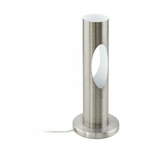 Lampa stołowa ceratella 96906 lampka 1x5w gu10-led nikiel mat / biała marki Eglo