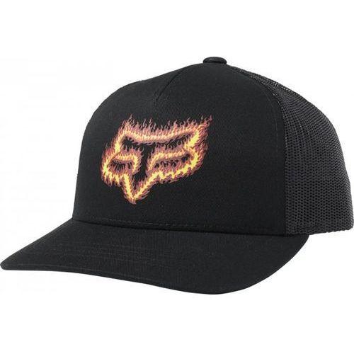 Fox czapka z daszkiem junior flame head black/oran
