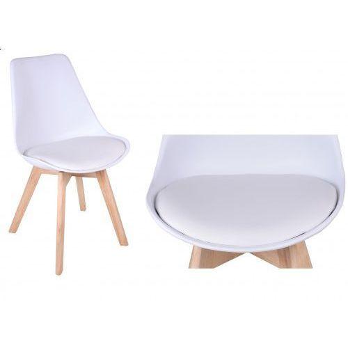 Gockowiak Krzesło nantes - biało-białe